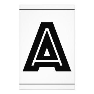 Letter A Monogram | Simple, Modern, Minimal Customised Stationery