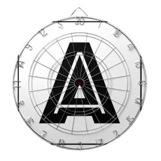 Letter A Monogram | Simple, Modern, Minimal Dart Board