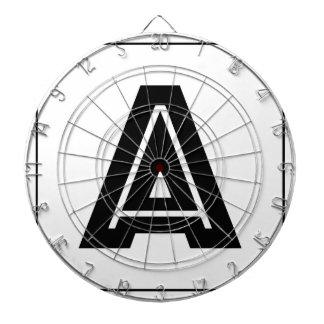 Letter A Monogram | Simple, Modern, Minimal Dartboard