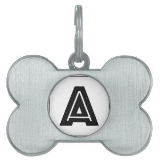 Letter A Monogram   Simple, Modern, Minimal Pet Tags