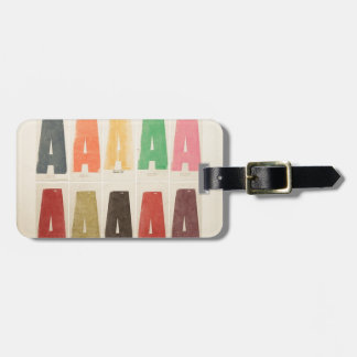 Letter A Rainbow Colors Bag Tag