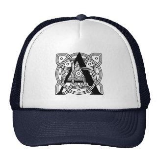Letter A Vintage Celtic Knot Monogram Trucker Hat