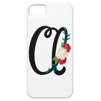 Letter A with vintage floral design and attractive iPhone 5 Case
