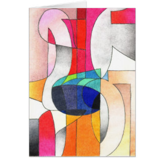 Letter abstract card