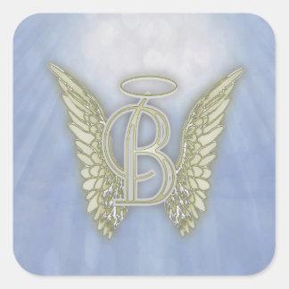 Letter B Angel Monogram Stickers