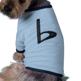 Letter b Black on Transparent Background Dog Clothes