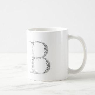 Letter B Bone Initial Coffee Mug