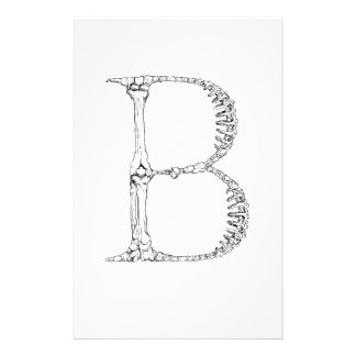 Letter B Bone Initial Stationery