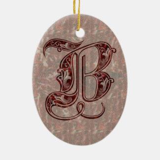 Letter B Ceramic Ornament