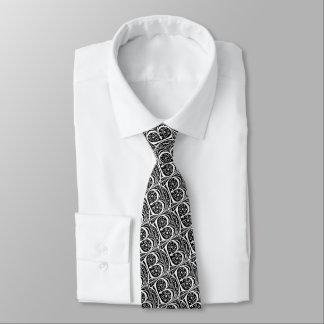 Letter B Elegant Black and White Monogram Tie