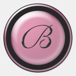 Letter B For Wedding Envelopes Classic Round Sticker