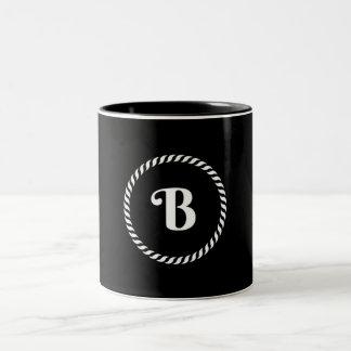 Letter B Two-Tone Coffee Mug