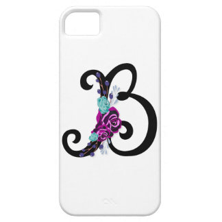 Letter B with vintage floral design and attractive Case For The iPhone 5