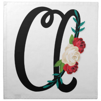 Letter B with vintage floral design and attractive Napkin