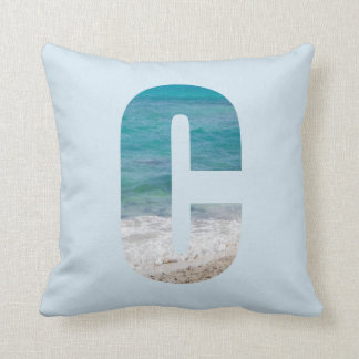 Letter C beach scene Cushion
