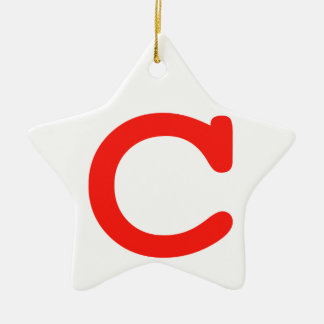 Letter c ceramic ornament