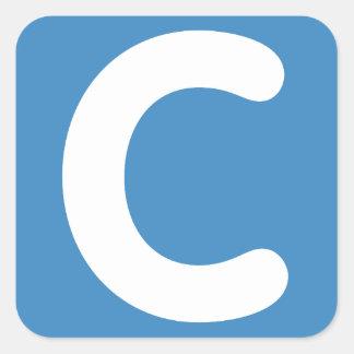 Letter C emoji Twitter Square Sticker