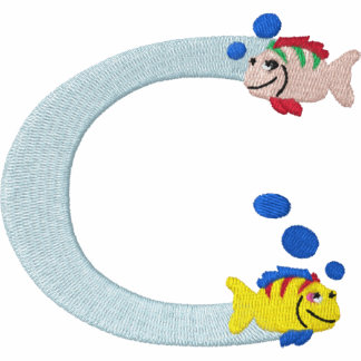 Letter C Fish Monogram Embroidered Shirt