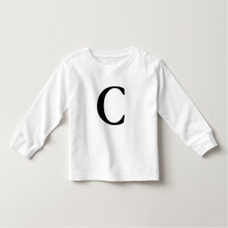 Letter C initial monogrammed t shirt