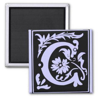 Letter C Monogram Magnet