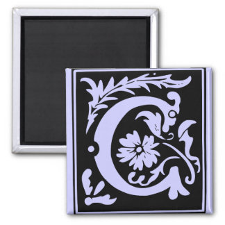 Letter C Monogram Square Magnet