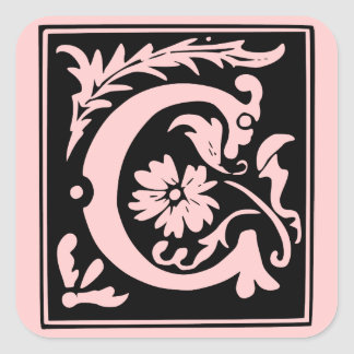 Letter c monogram stickers zazzlecomau for Letter c stickers