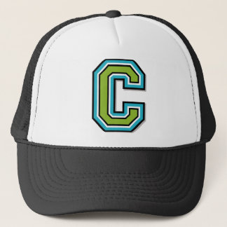 "Letter ""C"" Monogram Trucker Hat"