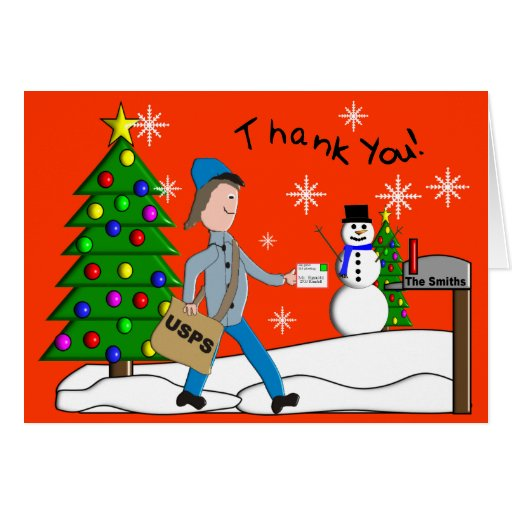 "Letter Carrier ""Thank You"" Notecards Card"