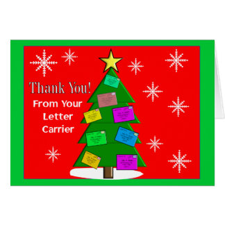 """Letter Carrier """"Thank You"""" Notecards Card"""