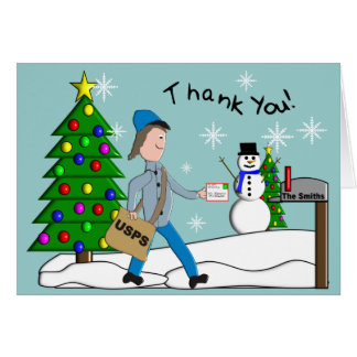 Letter Carrier Thank You Notecards Card