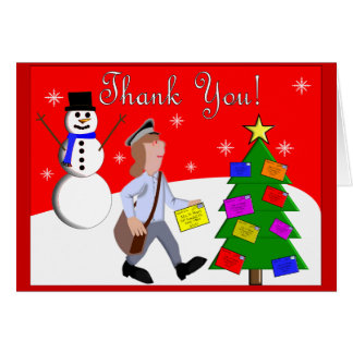 """Letter Carrier """"Thank You"""" Notecards Note Card"""