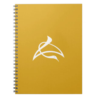 Letter crane of length notebook