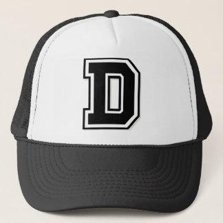 "Letter ""D"" Initial Trucker Hat"