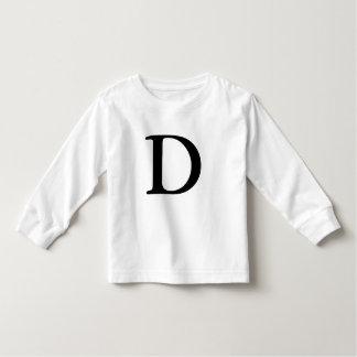 Letter D monogrammed initial t shirt