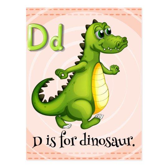 Letter D Postcard