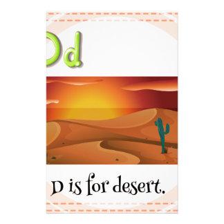 Letter D Stationery