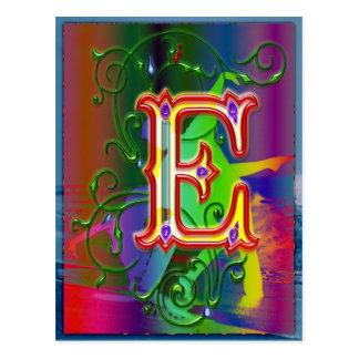 Letter E Alphabet Dancers Postcard