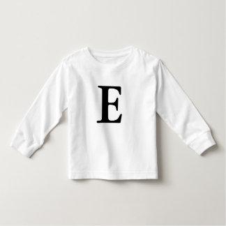 Letter E initial monogrammed t shirt
