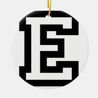 Letter E Round Ceramic Decoration