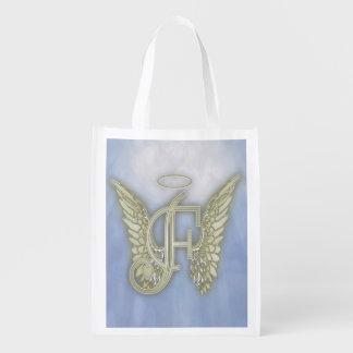 Letter F Angel Monogram