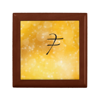 Letter F Small Square Gift Box