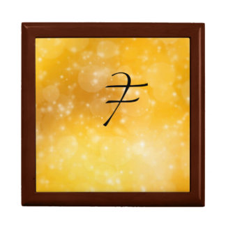 Letter F Large Square Gift Box