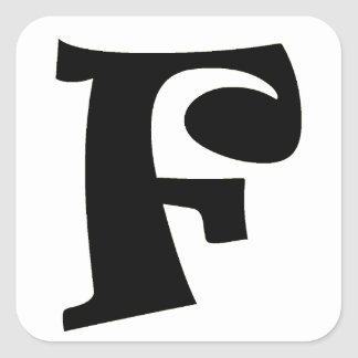 Letter F_large Square Sticker