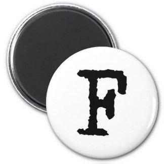 Letter F Refrigerator Magnets