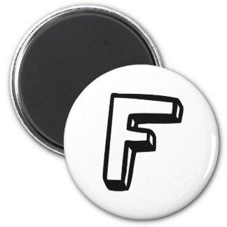 Letter F Fridge Magnet