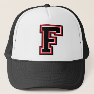 "Letter ""F"" Monogram Trucker Hat"