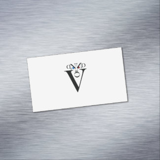 Letter Face Magnetic Business Cards