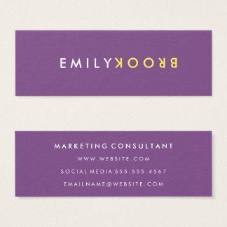 Letter Flip Mini Business Card