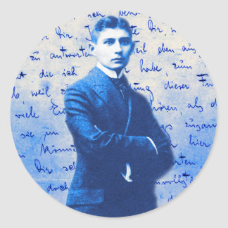 Letter From Kafka Round Stickers