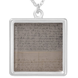Letter from Leopold Mozart Silver Plated Necklace